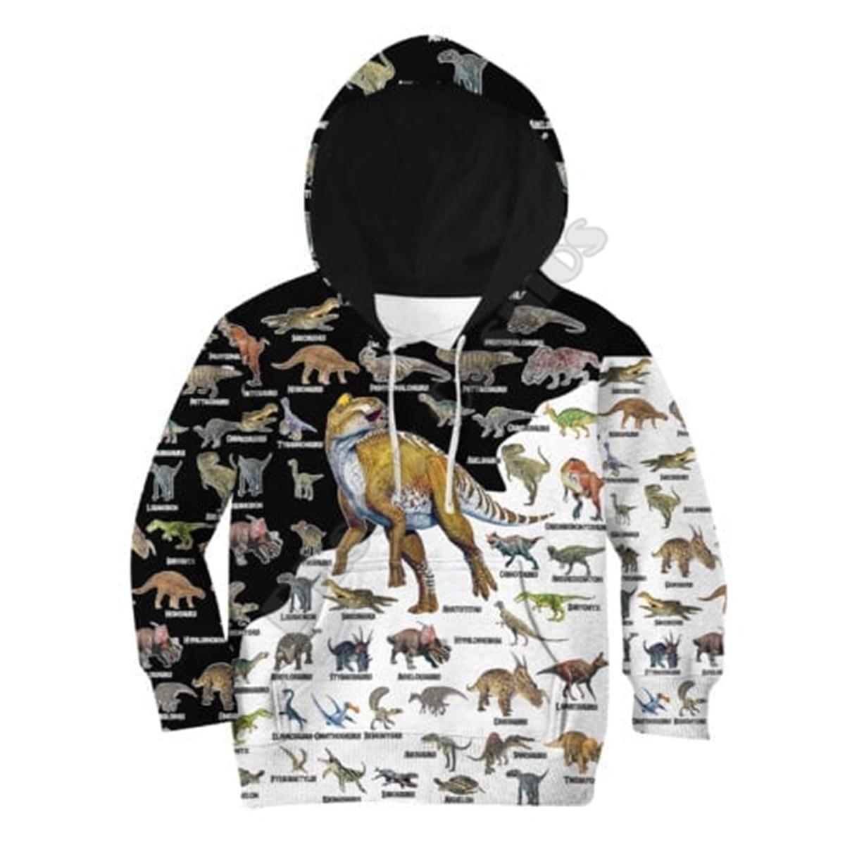 Love Dinosaur 3D Printed Hoodies Kids Pullover Funny Animal Sweatshirt Tracksuit Jacket T Shirts Boy For Girl Style-11