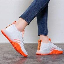 2020 Platform Sock Women Black Orange Green White Sneakers Chunky Shoes Trainers Casual Mesh Tennis Feminino FM A22