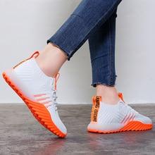 Calcetines de plataforma para mujer, zapatillas deportivas gruesas, informales, de malla, color negro, naranja, verde y blanco, FM A22, 2020