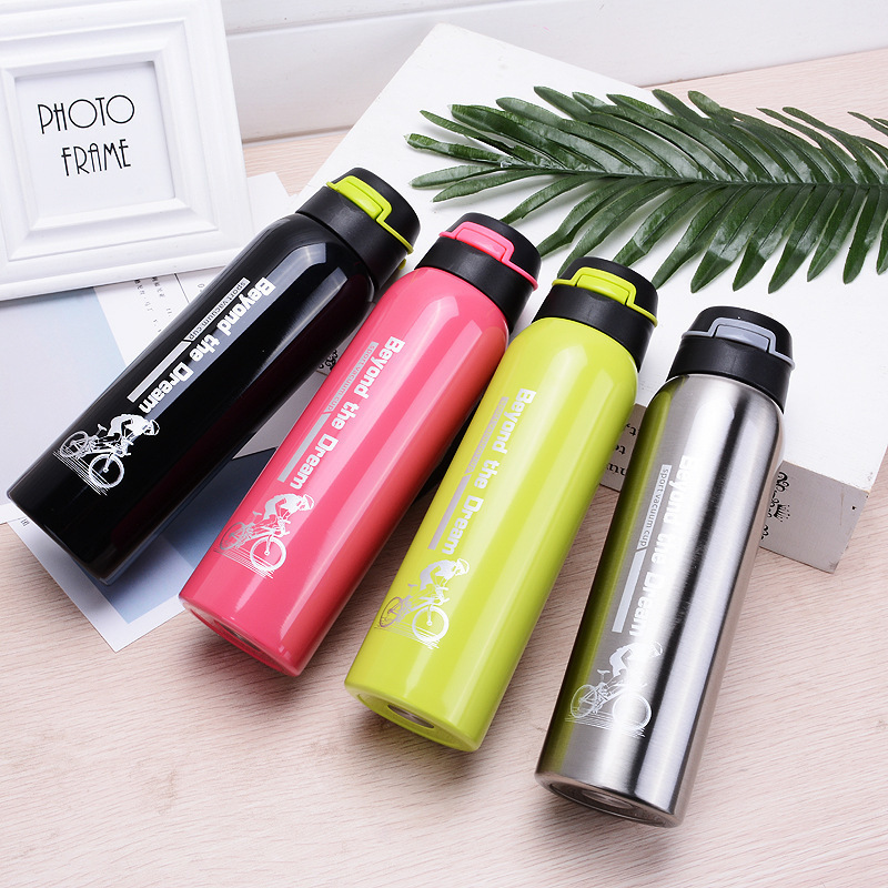 H7a566f73fc9d438a920db36c2f189e60B 500ML Sport thermos water bottle Thermo Mug Stainless Steel Vacuum Flask mug with straw Insulation Cup Thermoses tthermal bottl