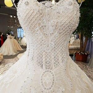 Image 4 - LS74521 vestidos de boda de lujo, sin tirantes, con encaje, sin mangas, espalda, con cuentas, fotos reales, 2020