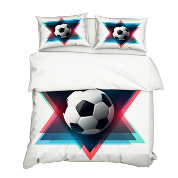 3D Soccer Football Printed Bedding Set Fashion Pillowcase Duvet Cover Sets 3pcs Home Textile Family Bed Sets Bed Linings
