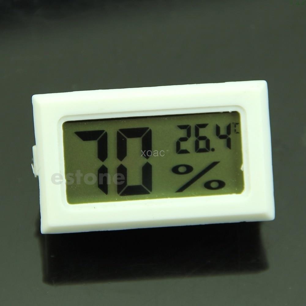 White Mini Digital LCD Thermometer Hygrometer Humidity Temperature Meter  M06 Dropship