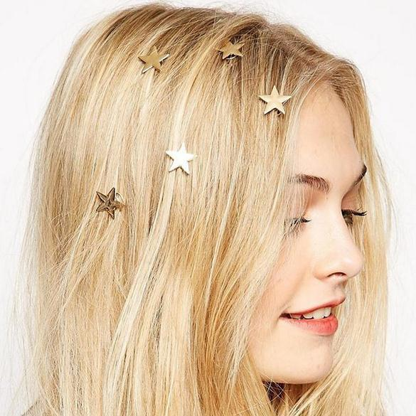 New Style Spring Hairpin Star Pearl Screw Clip Fashion Simple Birthday Gift Girl Accessories Hair Ornaments For Women