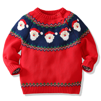 Baby Boys Girls Winter Autumn Cartoon Pullover Knit Sweaters Christmas New  Year Costume Girls Boys Sweaters Coat Clothes-Leather bag