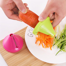 Kitchen Tools Vegetable Fruit Multi-function Spiral Shredder Peeler Manual Potato Carrot Radish Rotating Shredder Grater