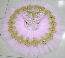 Fairy Professional Ballet Tutu Child Pink With Flowers For Adults Girls Dress