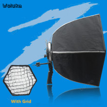 60 Cm Portable Payung Hexagon Softbox Flash Speedlight Speedlite Reflektor Soft Box dengan Honeycomb Grid Membawa Tas CD50 T10(China)