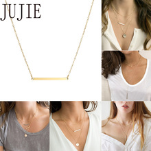 JUJIE Layered Pendant Necklace Necklace women  316L Stainless Steel Necklace Jewelry Namenecklace infinity beaded crucifix pendant layered necklace