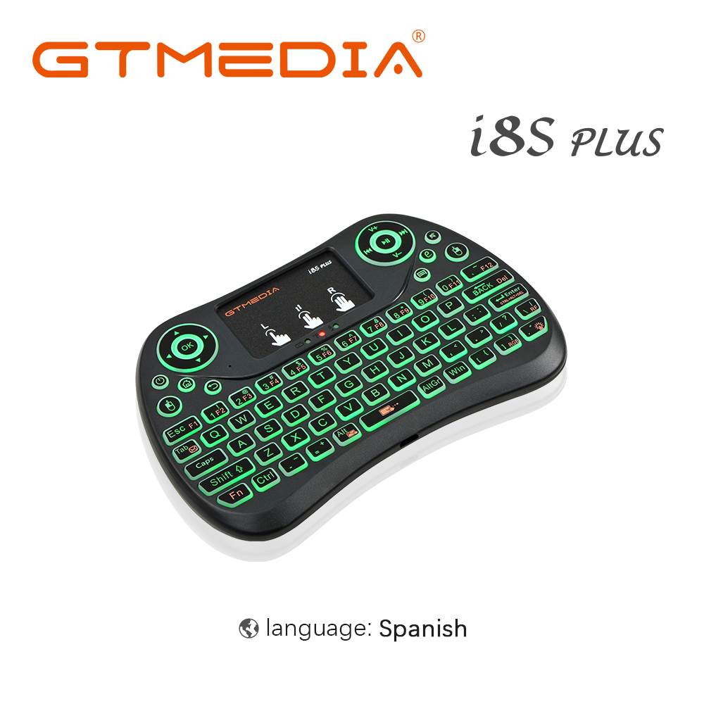 GTMEDIA i8 Mini 2.4G Wireless Keyboard Touchpad Color Backlit Air Mouse Spanish Version Handheld Mouse For Android TV Box Smart