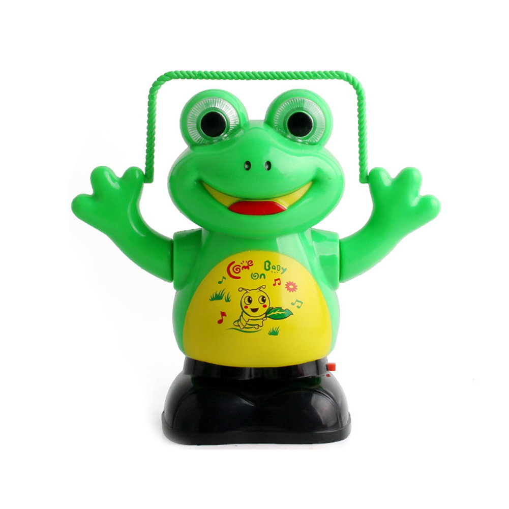 Funny Electric Toy MINI Novelty Pastic Green Electric Rope Skipping Cartoon  Intelligent Light Music Cartoon Kids Toy