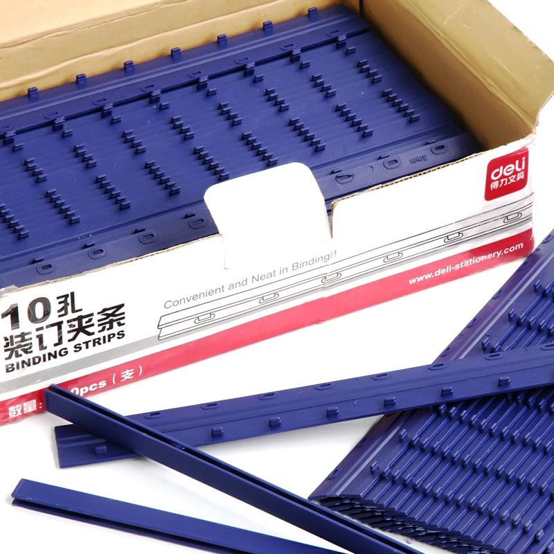 Deli 3825 Binding Mound Layer 300X5 Mm 10 Hole High Quality Binding Supplies 100 Root/Box