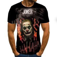 Terror Short-Sleeves Fashion t-Shirts Joker-Face Summer Printed Casual Men/women 3D Clown