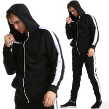Fashion Brand Hoodie Men 2019 Spring Autumn stranger things zipper Hoodies Sweatshirt Men Top + trousers недорого