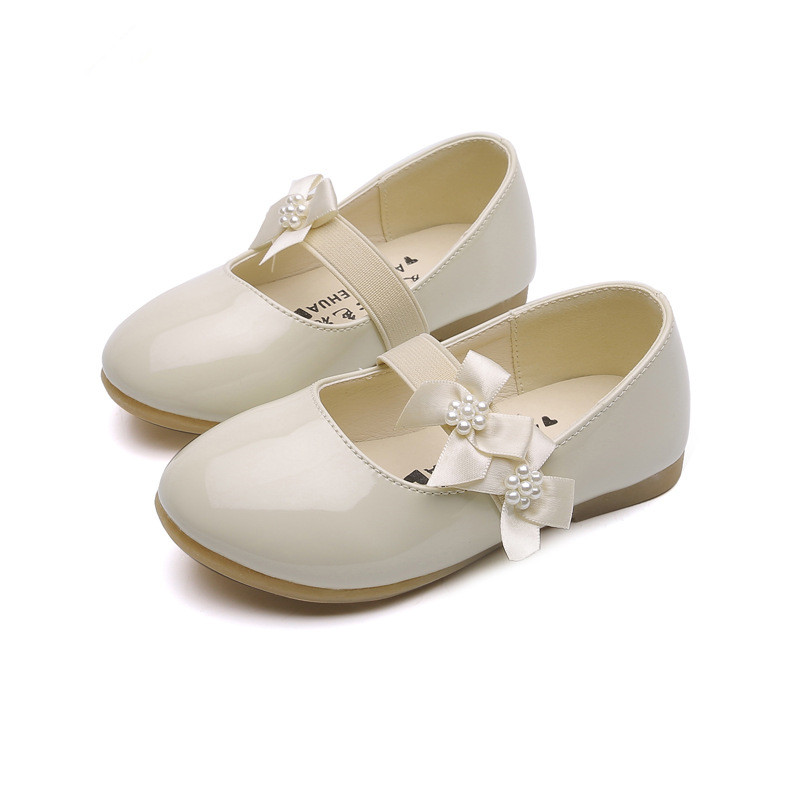 Beautiul New Baby Girls Leather Shoes Girls Flower Princess Shoes Kids Cocktail Party Shoes For Girls Wedding Dress Shoes White