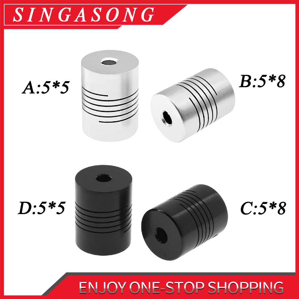 US $3.9 20% OFF|5pcs/lot. Stepper Motor 5x8x25mm Flexible Coupling 5mm Coupler 5x8 / Shaft Couplings 5mm 5mm*8mm**25 mm.-in Shaft Couplings from Home Improvement on AliExpress