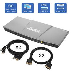 HDMI مفتاح ماكينة افتراضية معتمدة على النواة المزدوجة مراقب 4 منفذ (2 HDMI و 2 VGA) مدخل 2 منفذ (HDMI) إخراج مفتاح ماكينة افتراضية معتمدة على النواة HDMI 4 k ...