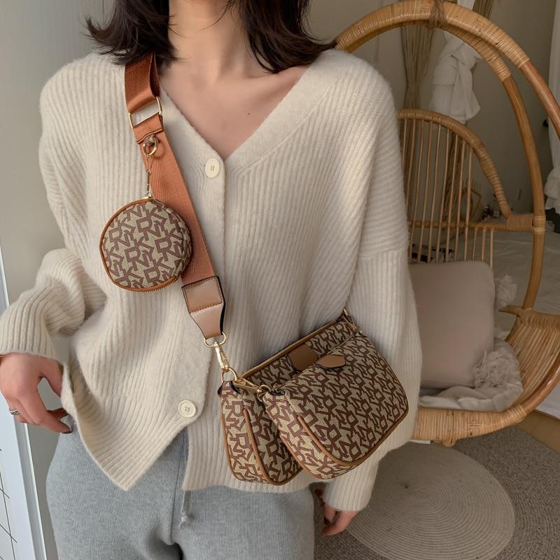 3 Pcs Women Shopping Bag Linen Luxury Tote Large Canvas Female Casual Shoulder Chromatic Bag Lady Letter Beach Handbag