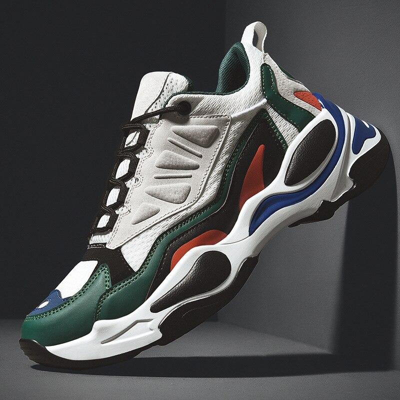 YOUQIJIA/мужские весенне осенние массивные кроссовки с высоким берцем в стиле хип хоп; мужская повседневная обувь; модные теннисные туфли Kanye West