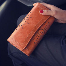 Ladies Wallet Women Boho PU Leather Wallet Handbag Clutch Bag