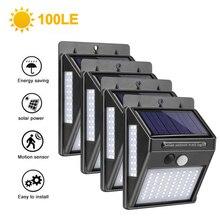 DIDIHOU 100 светодиодный светильник на солнечной батарее, уличный солнечный светильник с датчиком движения PIR, настенный светильник, водонепроницаемый солнечный светильник для сада