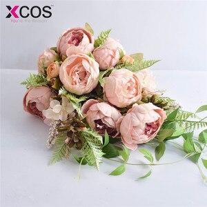 Image 3 - XCOS 2019 Nuovo 4 Stili di Acqua Goccia Cascata Elegante Bouquet Da Sposa Artificiale Carla Rosa Bouquet Da Sposa Bouquet Bianco Mariage