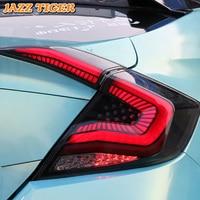 Rear Fog Lamp + Brake Light + Reverse Light + Dynamic Turn Signal Car LED Tail Light Taillight For Honda Civic 2017 2018 2019