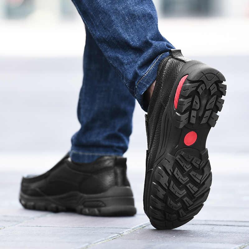 Echt Leer Mannen Schoenen Casual Koe Loafers Mannelijke Klassieke Zwarte Slip Op Schoen Man Platte Rijden Schoenen Voor Mannen hot Koop Mocassins