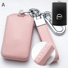 Leather Car Key Cover Case for Volvo S90 2017 S90L T5 T6 2015 2016 T8 2017 XC60 2018 Car Auto Key Case Covers Protect