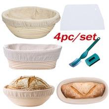 1 conjunto de cesta de impermeabilização de pão-banneton proofing basket-sourdough cesta conjunto para padeiros em casa fabricação de pão artesanal