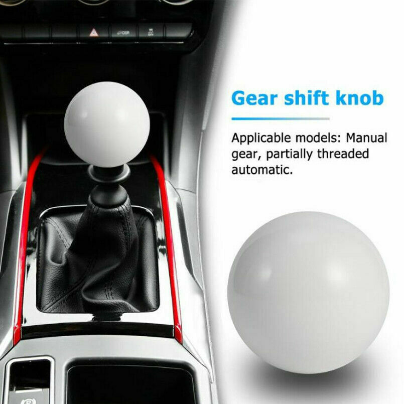 WHITE GUMBALL SHIFT KNOB /& AUTO//AUTOMATIC ADAPTER FOR GEAR SHIFTER KIA