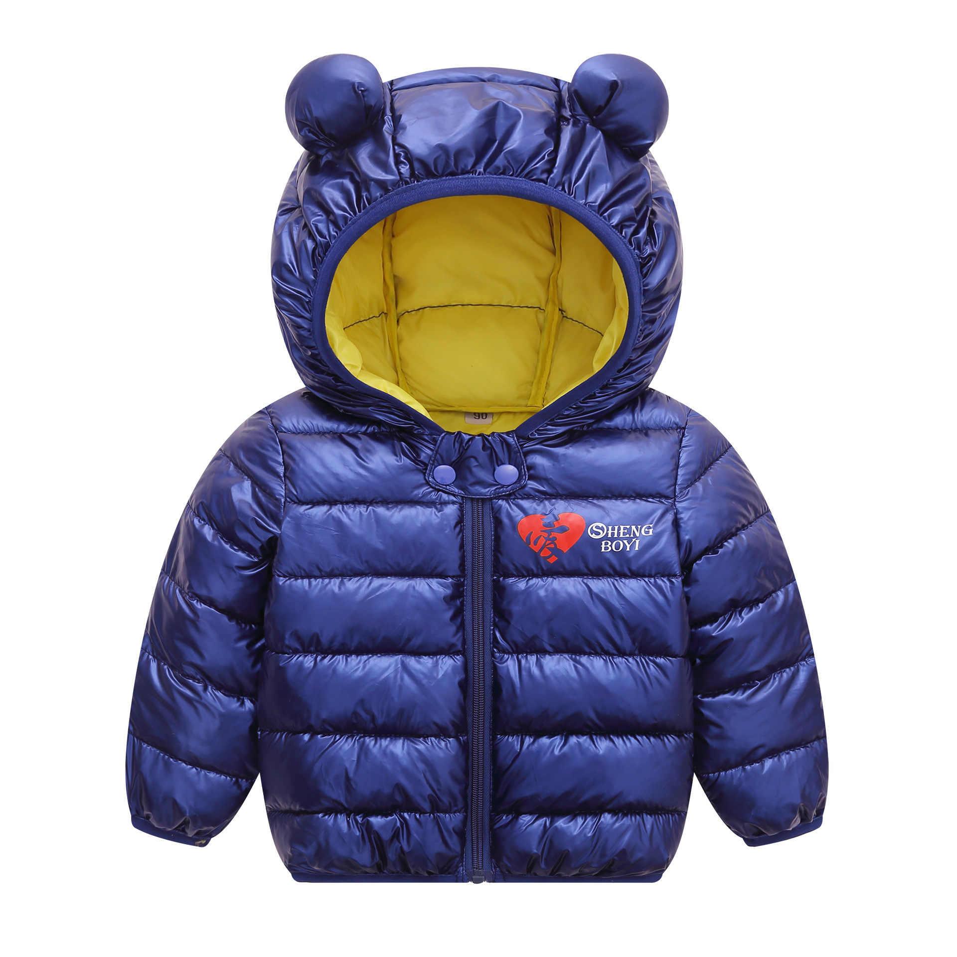OLEKID 2019 Sonbahar Kış Bebek Kar Giyim Kapşonlu Karikatür Parka Erkekler Için 1-4 Yıl Çocuk Mont Bebek Kız snowsuit Çocuk Ceket