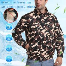 New Adjustable Summer Cooling Air-conditioning Clothes with Fan Clothes USB Charging Fan Clothes Outdoor Fishing Clothes man cooling coat summer cold fan air conditioning clothes thick outdoor high temperature welding work clothes
