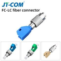 2pcs Adaptador Híbrido de Fibra Óptica LC LC Fêmea para Macho FC FC simplex Single mode SM Conector De Fibra Óptica Acoplador
