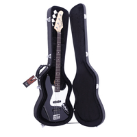 ( Ship from US ) Premium Electric Bass Guitar Gig Bag Backpack Case Cover Water Resistant Electric Bass Microgroove Hard Case