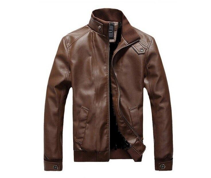 2019 MEN'S Leather Coat Men'S Wear Korean-style Slim Fit Biker MEN'S Leather Jackets Fashion