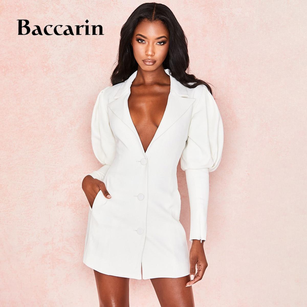 2019 autumn winter women long coat jacket cardigan office OL elegant casual blazer outwear v neck lantern sleeve clothes