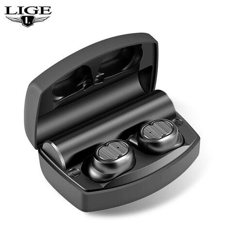Fones de Ouvido Handsfree-fone de Ouvido Controle de Toque Estéreo de Alta Fidelidade com Carregamento-caixa Bluetooth Auriculares Lige2020 Tws