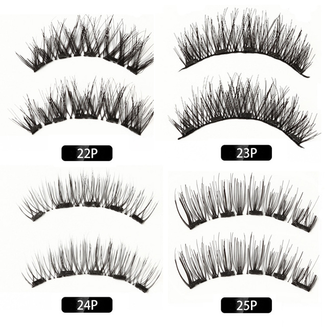 MB Magnetic Eyelashes With 5 Magnets 3D False Lashes Natural For Mink Eyelashes Extension Long Reusable faux cils magnetique 22P 2