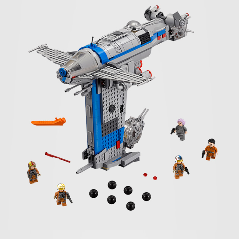 2019 NEW 810Pcs Legoinglys Star Wars Series Resistance Bomber Building Blocks Bricks Kids Friends Toys Christmas Gift <font><b>75188</b></font> image