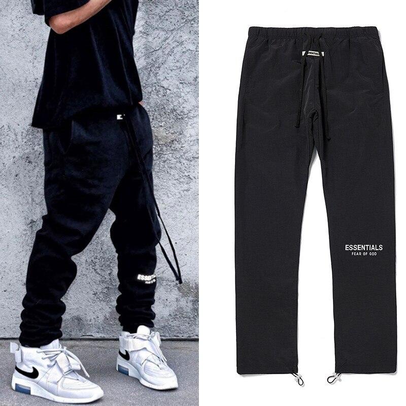 Novo 2020 calças de carga reflexiva dos homens streetwear com bolsos coreano casual harajuku joggers perna larga tatical joggers calças