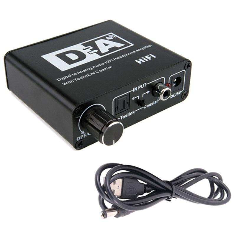 DAC Coaxial Bi-Directional Switch RCA 3.5mm Jack Digital to Analog Audio Adapter Converter