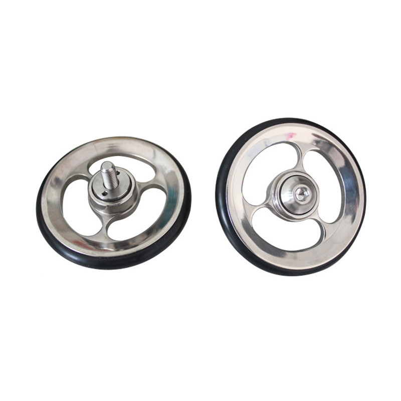 SEWS-Easy Wheels Easy Wheel for Brompton Cycling Bike Folding Bicycle Accessories Titanium Alloy Easy Wheel Carry Wheel