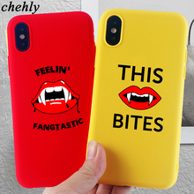 Funny mouth Phone Case for iPhone X XR XS Max 8 7 6 S Plus 11 Pro MAX Cases Soft