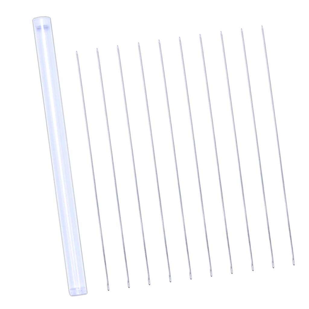 20pcs Straight Beading Needles With Box Seed Beads Needles Easy Thread