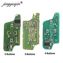 15 Uds 2/3/4 botón de control remoto coche/FSK clave junta para Peugeot 207, 208, 307, 308, 408 socio CITROEN C2 C3 C4 C5 Berlingo Picasso