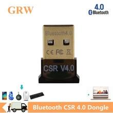 GRWIBEOU Mini USB Bluetooth V 4.0 Dual Mode Sem Fio Adaptador Dongle Bluetooth CSR 4.0 USB 2.0/3.0 Para Windows 10 8 XP Win 7