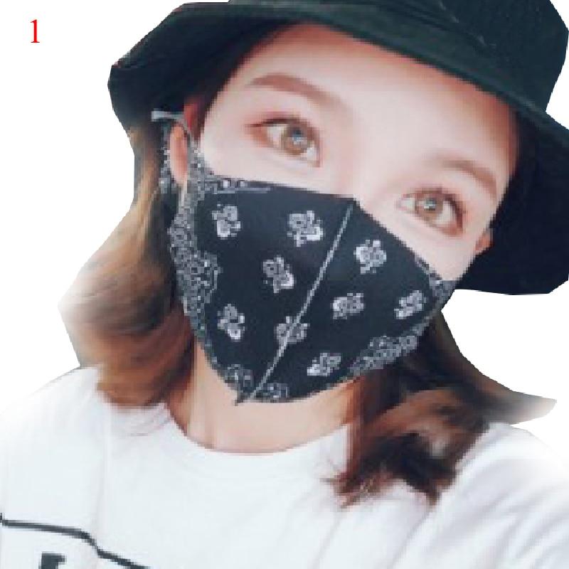 Korean Print Mask Reusable Mouth Mask Black Mask Mouth Cotton Dust Face Dustproof Reusable Mouth Mask Personalized Hip Hop Hot