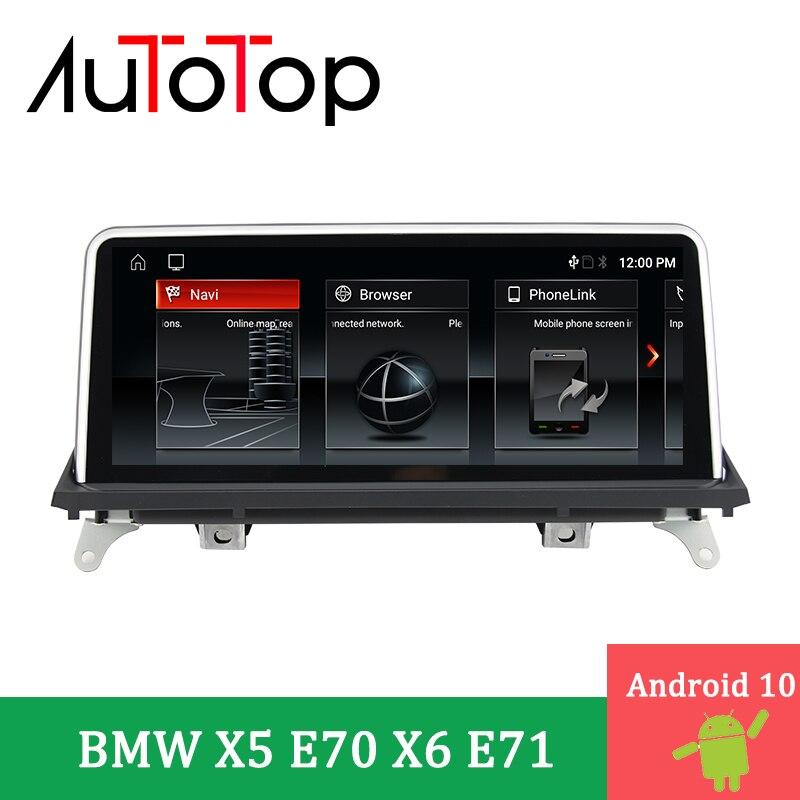 """Autotop 10.25 """"ips android 10.0 carro dvd gps rádio para bmw x5 e70 x6 e71 2007-2013 ccc/cic sistema de navegação carro automático multimídia"""