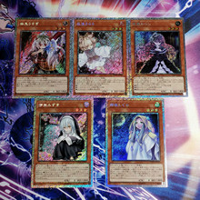 5pcs/set Yu Gi Oh Ash Blossom Joyous Spring Moonlit Chill DIY Colorful Toys Hobbies Collectibles Game Collection Anime Cards